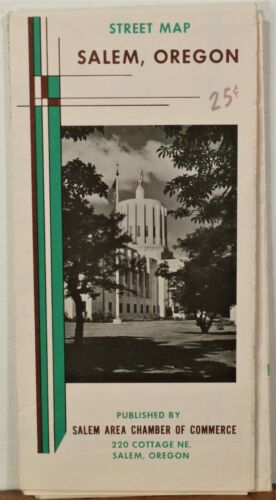 1967 Salem Oregon vintage Chamber of Commerce road map brochure b