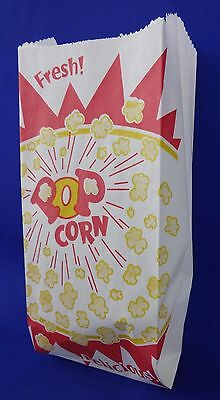 Qty 500 Popcorn Snack 1 Oz Paper Bags Concession Machine Supplies 3.5 X 2 X 8