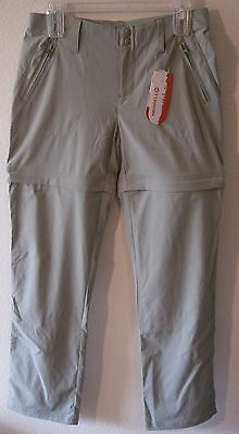 NWT Merrell Womens Belay Convertible Pants 4 Seagrass MSRP$95