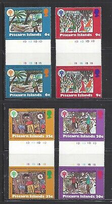 PITCAIRN ISLANDS - 188-191- GUTTER PRS - MNH - 1979 - CHRISTMAS AND IYC