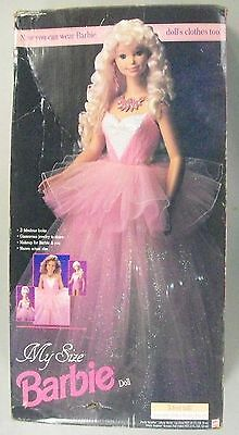 Mattel MY SIZE BARBIE DOLL 3' FEET TALL IN BOX VINTAGE CLOTHES 1992