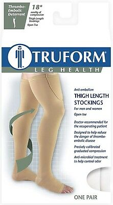 TED Thigh high Sz S 18mmhg Beige Surgical Compression Stockings Open toe - Ted Compression Stockings