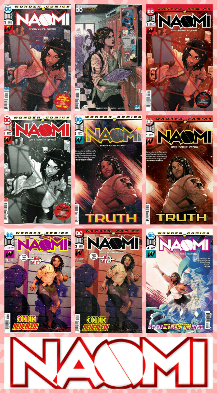 Details about NAOMI #1 2 3 4 VIRGIN VARIANT PICK CHOICE (1st PRINT) 2nd  FINAL DC 2019 NM- NM