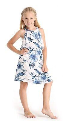 White Luau Dress (Hawaii Hangover Girl Hawaiian Luau Ruffle Dress in Day Dream Bloom)