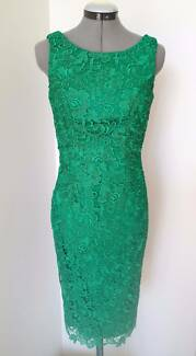 REVIEW AUSTRALIA GREEN LACE DRESS SIZE 6 RRP $279-NEW