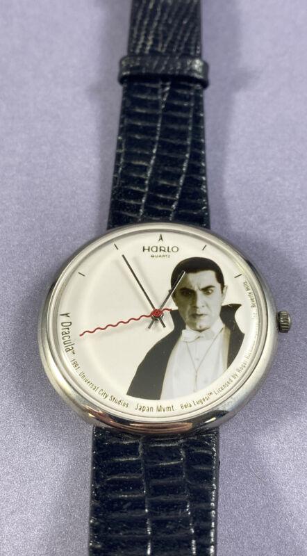Vintage 90s Harlo Quartz Watch Bela Lugosi Dracula Universal City Studios 1991