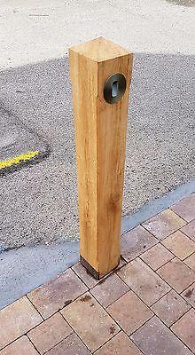 Air Dried Solid Oak Bollards Post Light