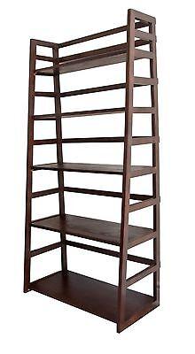 Simpli Home Acadian Collection Tobacco BrownLadder Shelf
