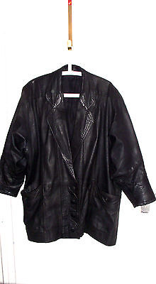 GENUINE LEATHER LADIES JACKET IN BLACK SIZE UK 18, EU 44 for sale  Shipping to South Africa