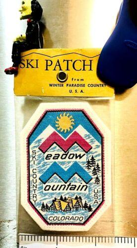MEADOW MOUNTAIN ~ Vintage Ski Patch ~ Lost Ski Area ~ Estes Park, CO ~ #1