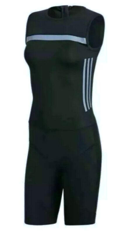 ADIDAS Crazypower Black Grey S/L Weightlifting Suit NEW Womens Sz XS