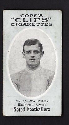COPE - NOTED FOOTBALLERS (CLIPS 120) - #25 WALMSLEY, BLACKBURN ROVERS