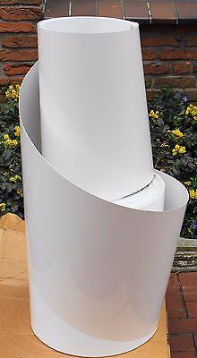 8 m  PET-A Folie  hochglanz weiß 0,58 mm x 465 mm  Modellbau Tiefziehen Deko