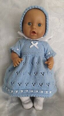 """Hand Knitted Dolls Clothes To Fit 13""""-14"""" Doll"""