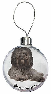 Tibetan Terrier 'Yours Forever'  Christmas Tree Bauble Decoration Gif, AD-TT2yCB