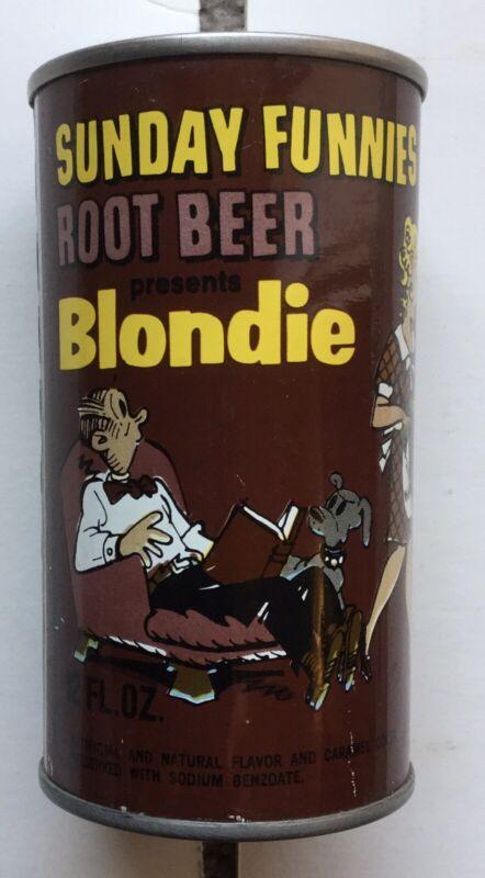 SUNDAY FUNNIES BLONDIE ROOT BEER PULL TAB SODA POP CAN COMIC COMICS NEW YORK