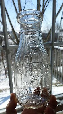 One Pint (Antique Embossed One Pint 5 Cent Universal Store Bottle Milk Bottle)