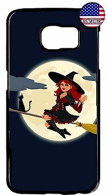 Halloween 7 Theme (Halloween Theme Cute Witch Case Cover For Galaxy S8 S9 Plus S7 Edge Note 9 8)