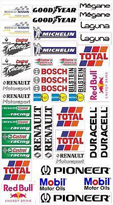 Renault Logo Autoaufkleber Sponsoren Marken Aufkleber Decals Tuning Sticker Set