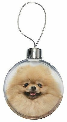 Cream Pomeranian Dog Christmas Tree Bauble Decoration Gift, AD-PO94CB