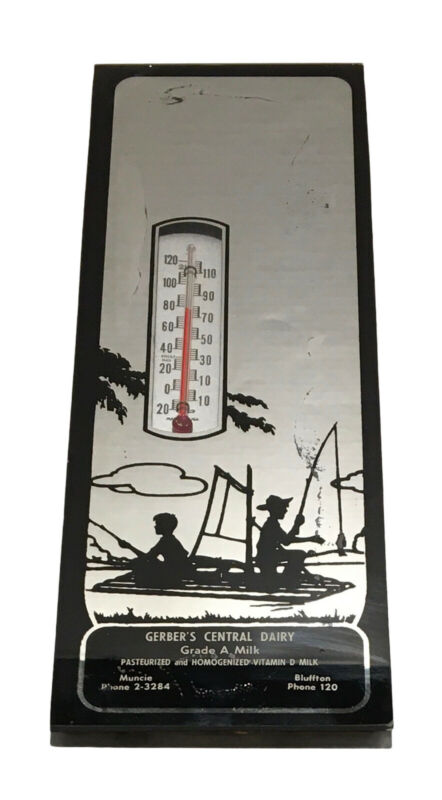 Vintage Gerber's Central Dairy Wall Thermometer