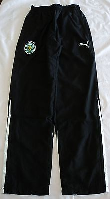 SPORTING LISBON 2012/13 WOVEN PANTS BY PUMA SIZE MEDIUM BRAND NEW WITH TAGS