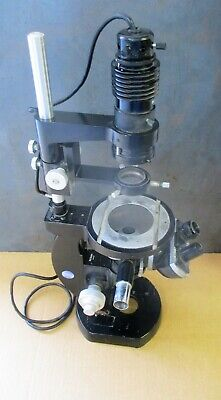 Nikon Inverted Microscope With Illuminator Attachment Binocular Head