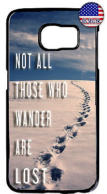 Case Samsung Galaxy Cover Wanderlust Wander Lost S10e S10+ S9 S8 Tolkien Quote