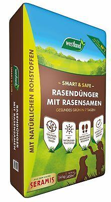 Westland Smart & Safe - Lawn Fertilizer with Lawn Seed, 14 kg for 400 M ²