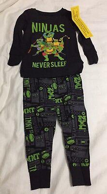 NWT Old Navy Pajamas 12-18 Month Ninja Turtle Long Sleeve 2 Piece Cotton Black
