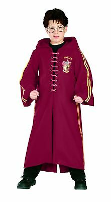 Deluxe Harry Potter Quidditch Child Red Hooded Robe Costume Cloak Licensed