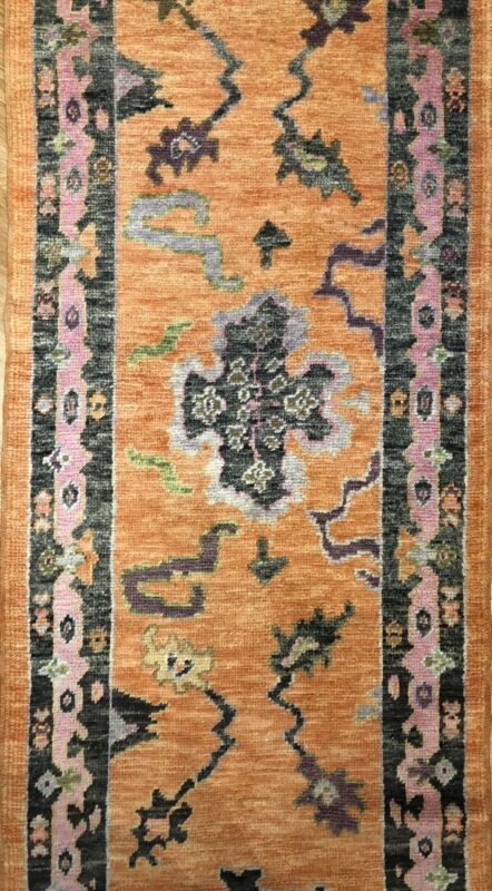 Vivid Oushak - Vintage Turkish Rug - Tribal Runner - 3 X 15.10 Ft.