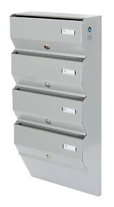 postbox 4 multi occupancy indoors apartment mailboxes letter box
