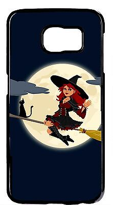 Halloween 7 Theme (Funny Halloween Theme Cute Witch Skin Case Cover For Samsung Galaxy S6 S7)