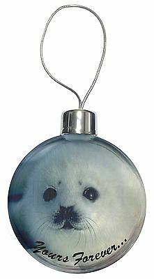 Snow Seal 'Yours Forever' Christmas Tree Bauble Decoration Gift, AF-S14CB