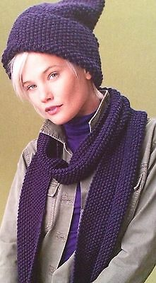 Used, Beginners Moss Stitch Hat and Scarf Knitting Pattern  for sale  Cannock