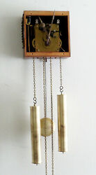 1950s Junghans Weight-driven Bim-Bam W248 Wall Clock Movement - Complete,Working