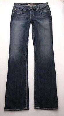 M171 Big Star MADDIE BOOT MID RISE Bootcut Stretch Jeans sz 29XL X-Long (30x35) Big Star Bootcut Jeans