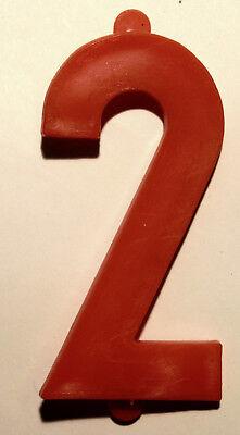 4 Preisziffern - Ziffern - Zahlen, Kunststoff rot, 100 mm