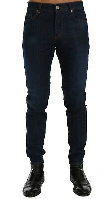 NEW $400 FRANKIE MORELLO Jeans Blue Wash Aberdeen Slim Fit Denim Stretch s. W32