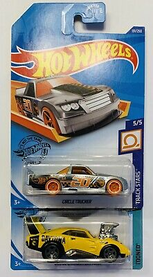 Lot of 2 2020 Hot Wheels Treasure Hunt TH DODGE CHARGER DAYTONA & CIRCLE TRUCKER