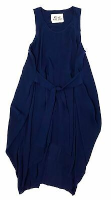 HENRIK VIBSKOV NAVY BLUE TRAPEZE A-LINE MAXI DRESS SIZE SMALL