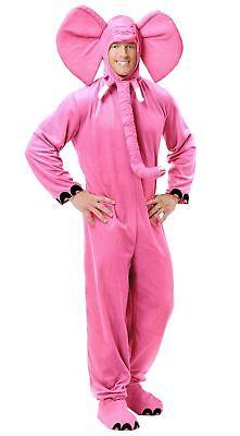 Elephant Adult Costume (Pink Elephant Jumpsuit Adult Costume Safari Animal Unisex Circus )