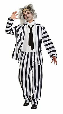 Adult Halloween Crazy Ghost Beetle Juice Fancy Dress Up Outfit Costume One Size ](Crazy Halloween Outfits)