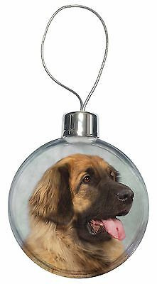 Blonde Leonberger Dog Christmas Tree Bauble Decoration Gift, AD-LE1CB