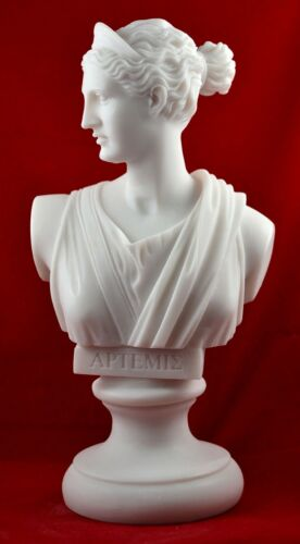 artemis diana bust greek statue nature moon goddess white free shipping