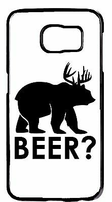 Cute Funny Beer Animal Design Snap on Case Cover For Samsung Galaxy S6 S7 -