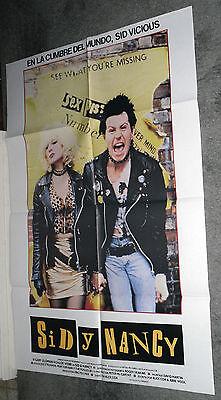 SID AND NANCY original rare 27x39 movie poster SEX PISTOLS/GARY OLDMAN