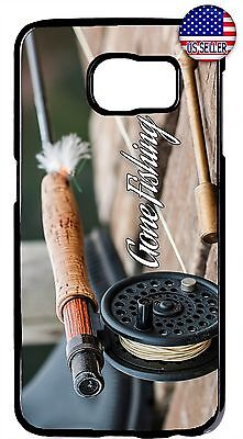 New Fly Fishing Bass Fish Rod Case Cover For Galaxy S8 S9 Plus S7 Note 9 8 -