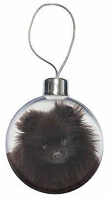 Black Pomeranian Dog Christmas Tree Bauble Decoration Gift, AD-PO90CB